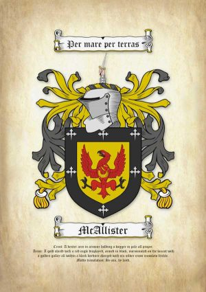 A4 Coat of Arms on Ancient Parchment Paper