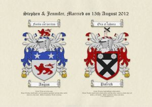 A3 Double Coats of Arms on Parchment Paper