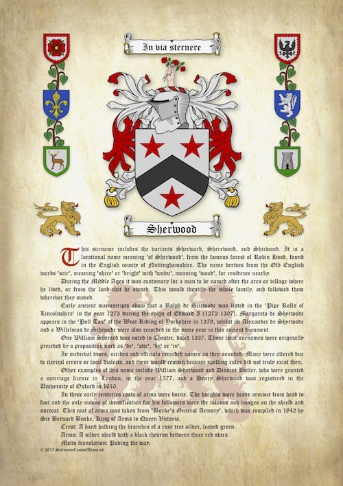 Surname Origin Meaning With Coat Of Arms Family Crest On A4